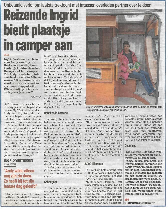 Krant 3 januari 2019
